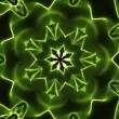 Green kaleidoscope background — Stock Video