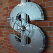 Stock Photo: Bank Dollar Sign Vault
