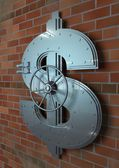 Bank Dollar Sign Vault — Stock Photo