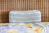 Pillow on Bamboo Sofa — Stock Photo