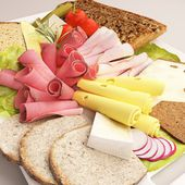 Cold meat plate — Stock Photo