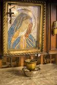 Antique orthodox icon Virgin Mary — Photo