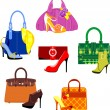 Bags and Shoes — Stock Vector #12777153