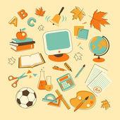 Education Set — Stock Vector