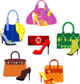 Bags and Shoes — Stock Vector