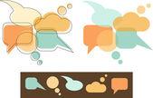 Speech Bubbles — Stock Vector