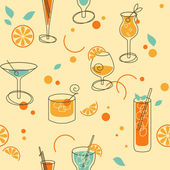 Cocktail Pattern — Stock Vector