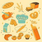 Bakery set — Stock Vector