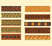 Set of greek pattern — Stock Vector