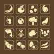 Royalty-Free Stock Vektorgrafik: Food Icons