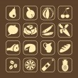 Food Icons — Stock Vector