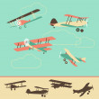 Vintage Airplanes — Stock Vector #12834378
