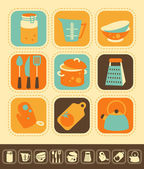 Kitchen Icon Set — Vettoriale Stock