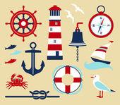 Zestaw morze — Wektor stockowy