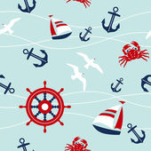 Sea seamless pattern — Vector de stock