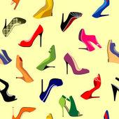 Chaussures sans soudure — Vecteur
