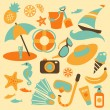 Summer vacation set - Imagen vectorial