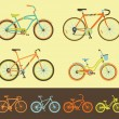 Stock Vector: Set of bicycles