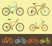Set of bicycles — Stock Vector