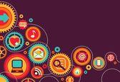 Social and media communication — Stock Vector