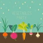Vegetables garden — Stock Vector