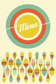 Restaurant menu illustration — Stock Vector