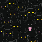 Black cats pattern — Stock Vector