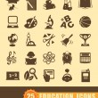 Education icons — Vector de stock #26534547