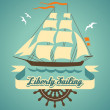 Royalty-Free Stock Vector Image: Liberty sailing