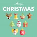 Flat Christmas icons — Stock Vector #34897219