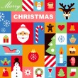 Christmas icons background — Stock Vector