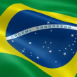 Brazilian flag in the wind — Stock Video