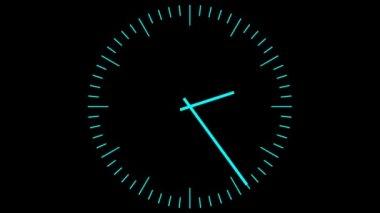 Blue clock — Stock Video