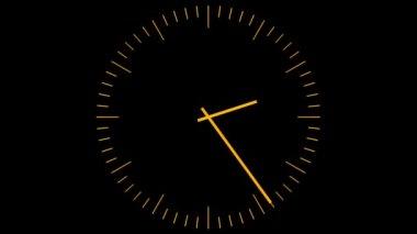 Orange clock — Stock Video