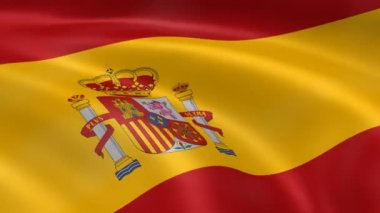 Spanish flag in the wind — Vídeo Stock