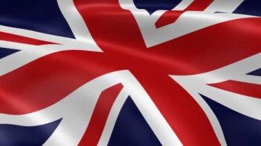 Drapeau britannique dans le vent — Vidéo