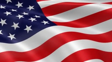 Amerikan bayrağı — Stok video
