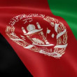 Afghan flag in the wind — Stock Video