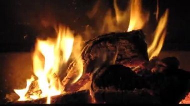Fireplace — Stockvideo