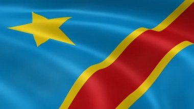 Congolese flag — Stock Video #12654337