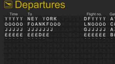 Split flap mechanical departures board — Wideo stockowe