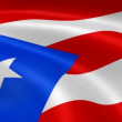 Puerto Rican flag in the wind. — Stock Video