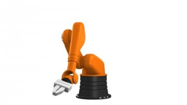 Industrial robotic arm — Wideo stockowe