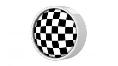Checkered flag — Stock Video