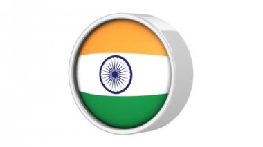 Indian flag. — Stock Video