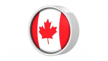Canadian flag. — Stock Video