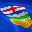 Albertan flag in the wind. - Stock Photo