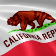 Californian flag in the wind. - Stock fotografie