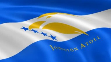 Johnston Atoll flag in the wind. — Stock Video