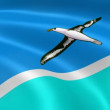 Midway Atoll flag in wind. — Stock Video #12758092